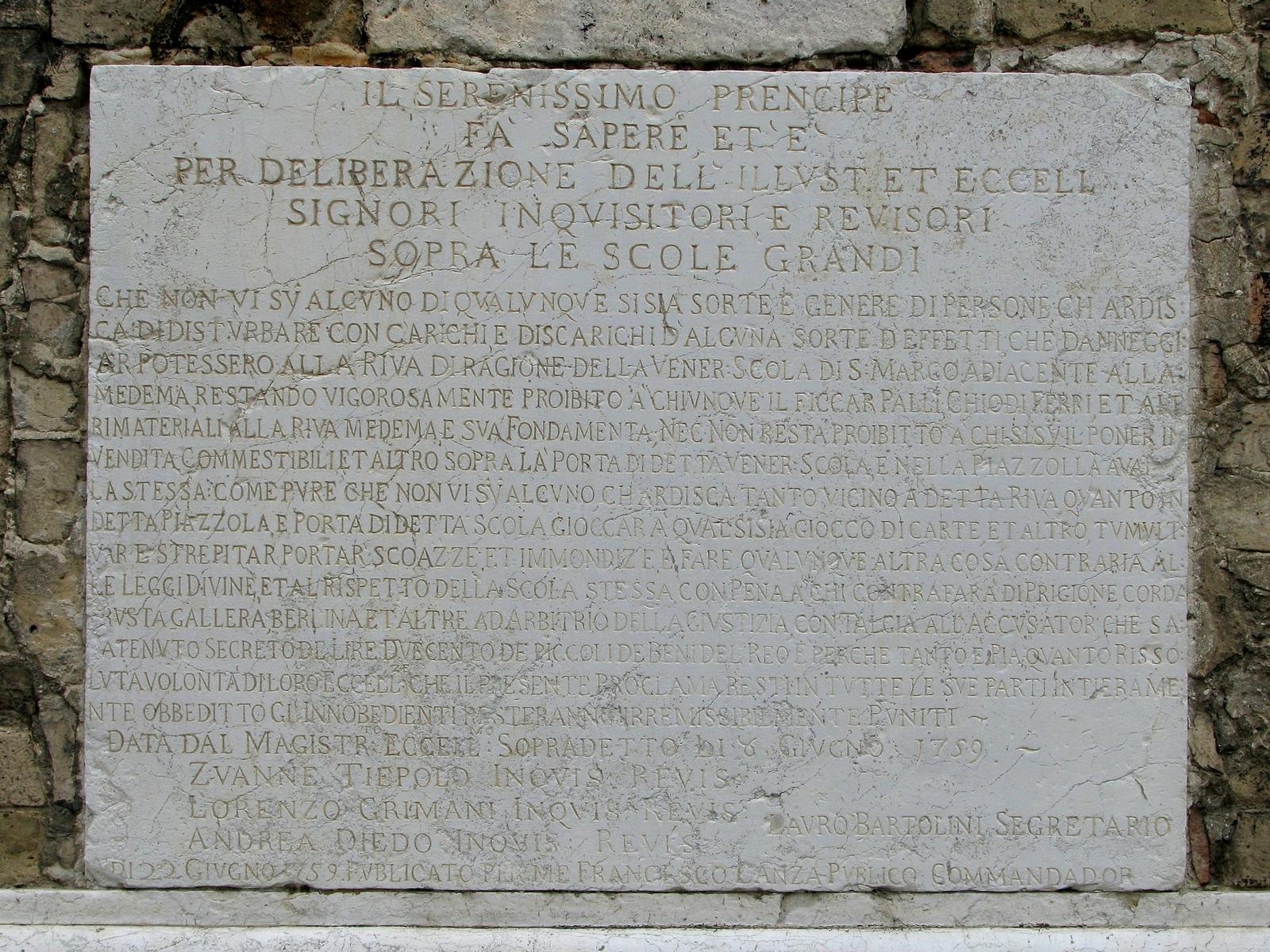 Lapide di Venezia, Photo by Gunther H.G. Geick