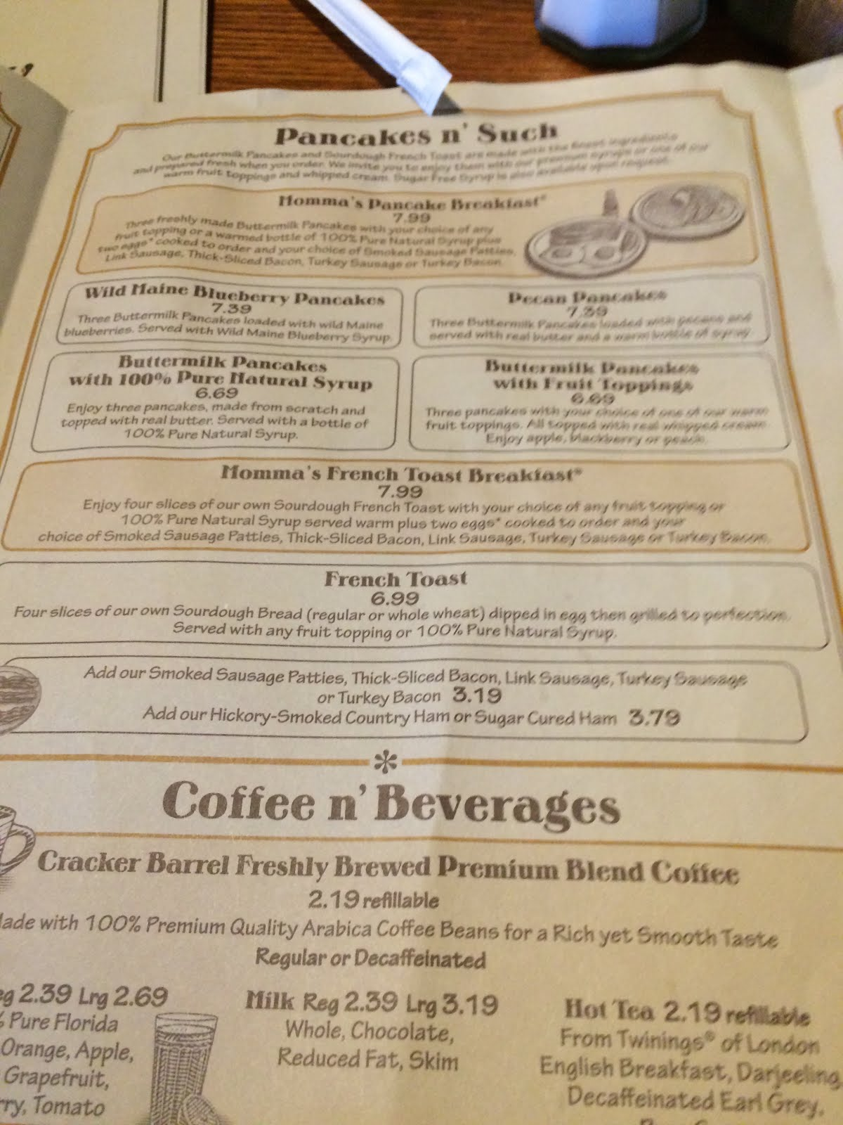 another look at the menu