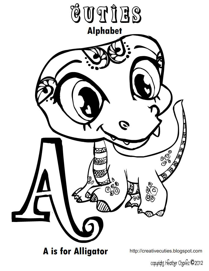 Quirky Artist Loft: \'Cuties\' Free Animal Coloring Pages