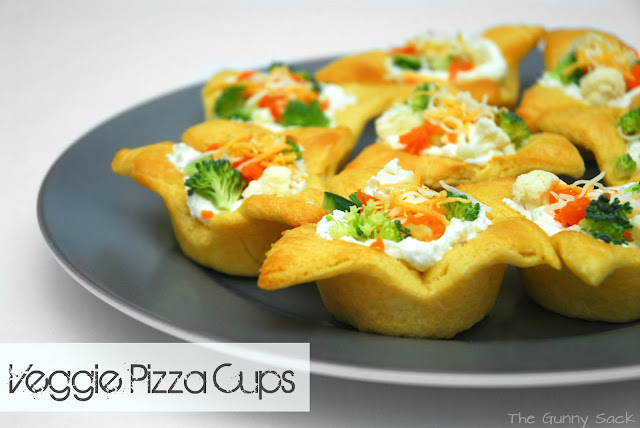 Veggie Pizza Cups Quick Appetizer Recipe