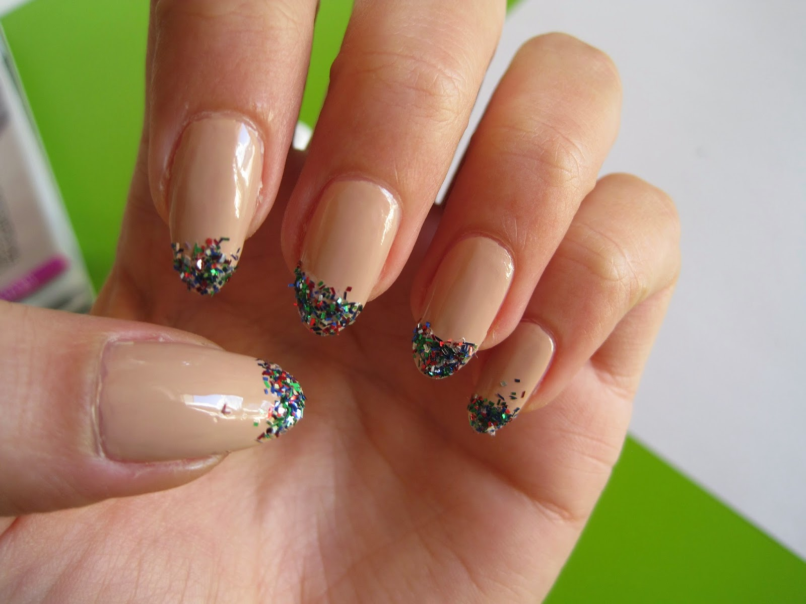 nail art, nailpolish, nude, glitter, smalto