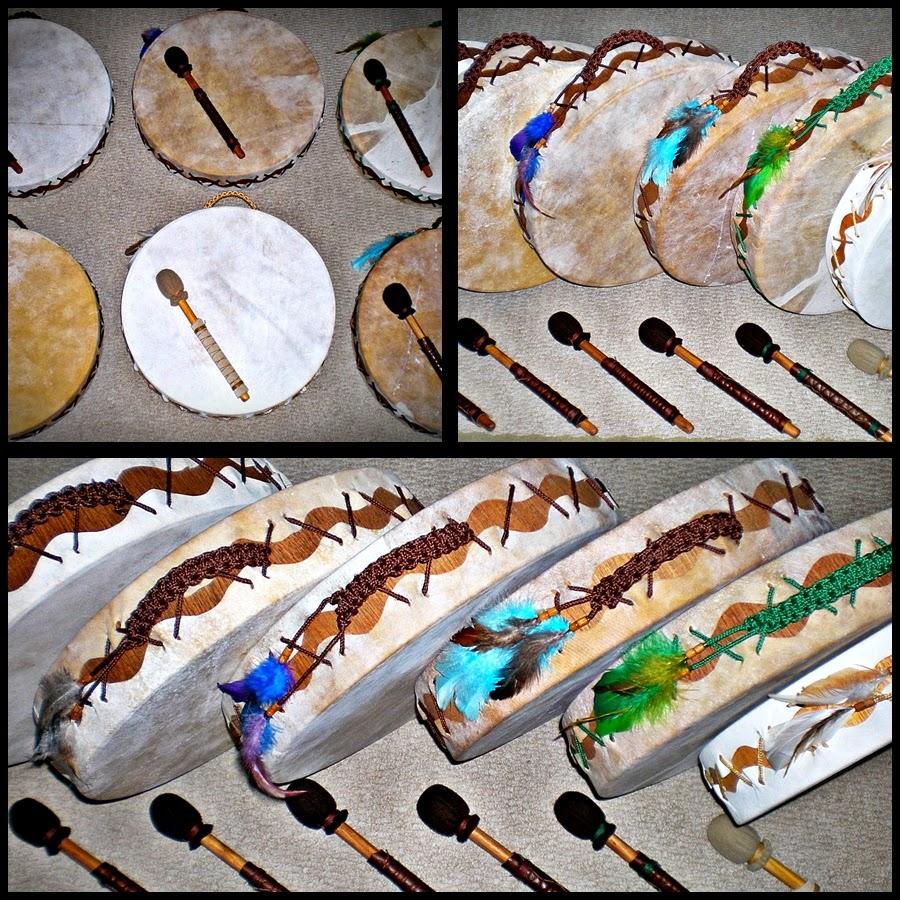 Artesãos Ou Artesaos ~ Wakan Wood Tambores TAMBORES XAM u00c2NICOS CHEROKEE 40 CM vibrando em conjunto!