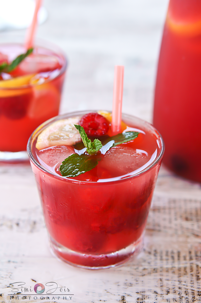 #RaspberryLemonade, #RaspberrySangria, #SummerCocktail, #SummerMocktail, #SummerCooler, #PartyDrink