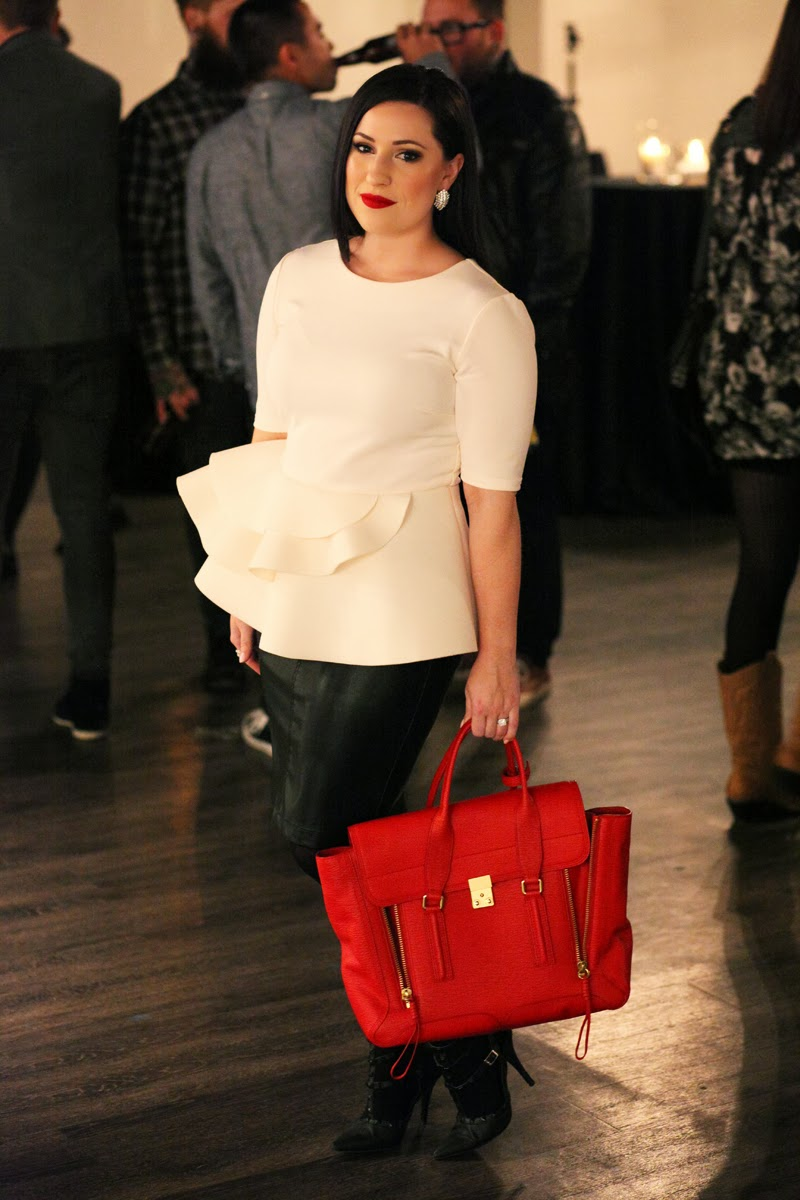 red-3.1-phillip-lim-pashli-satchel-white-peplum-top-blank-nyc-leather-skirt-stila-fiery-lipstick-king-and-kind-fashion-beauty-blog