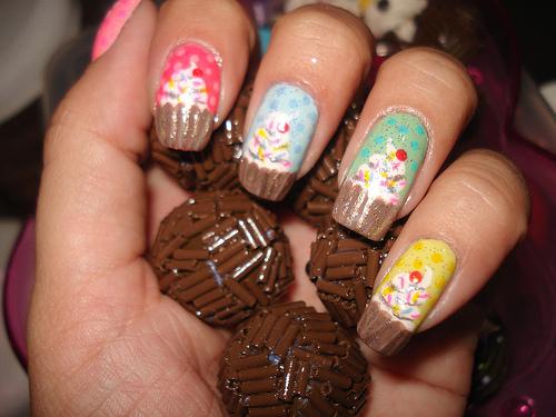 Modelos unhas Cupcake Diferentes