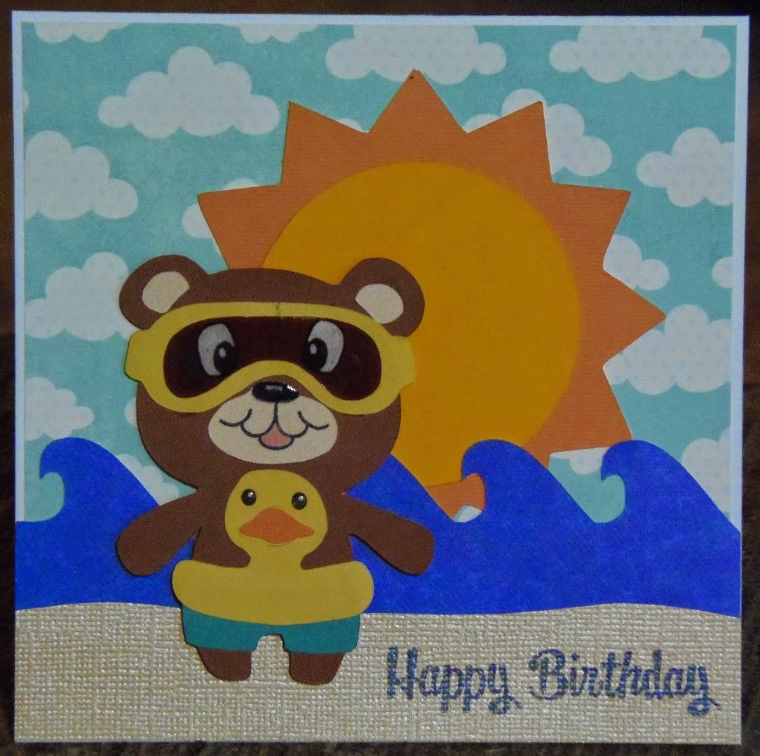 craft with bee beach birthday cards, Birthday card