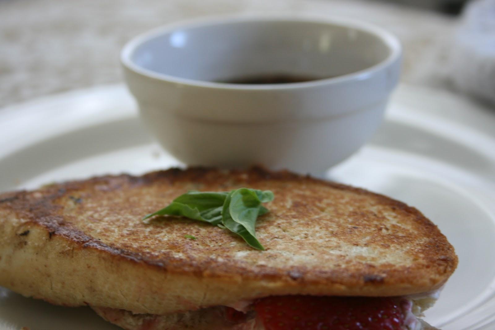 Pleasing Palate: Strawberry, Basil and Goat Cheese Panini
