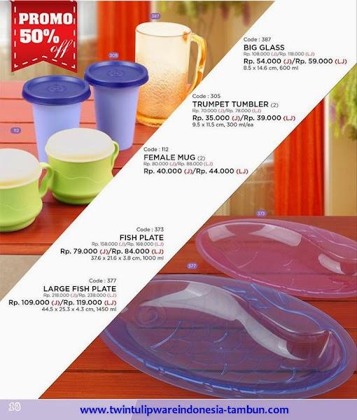 Promo Diskon 50% Tulipware | Januari - Februari 2015