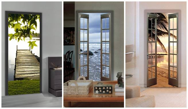 Bricolage e decora o decora o de portas arm rios for Papel para forrar armarios empotrados