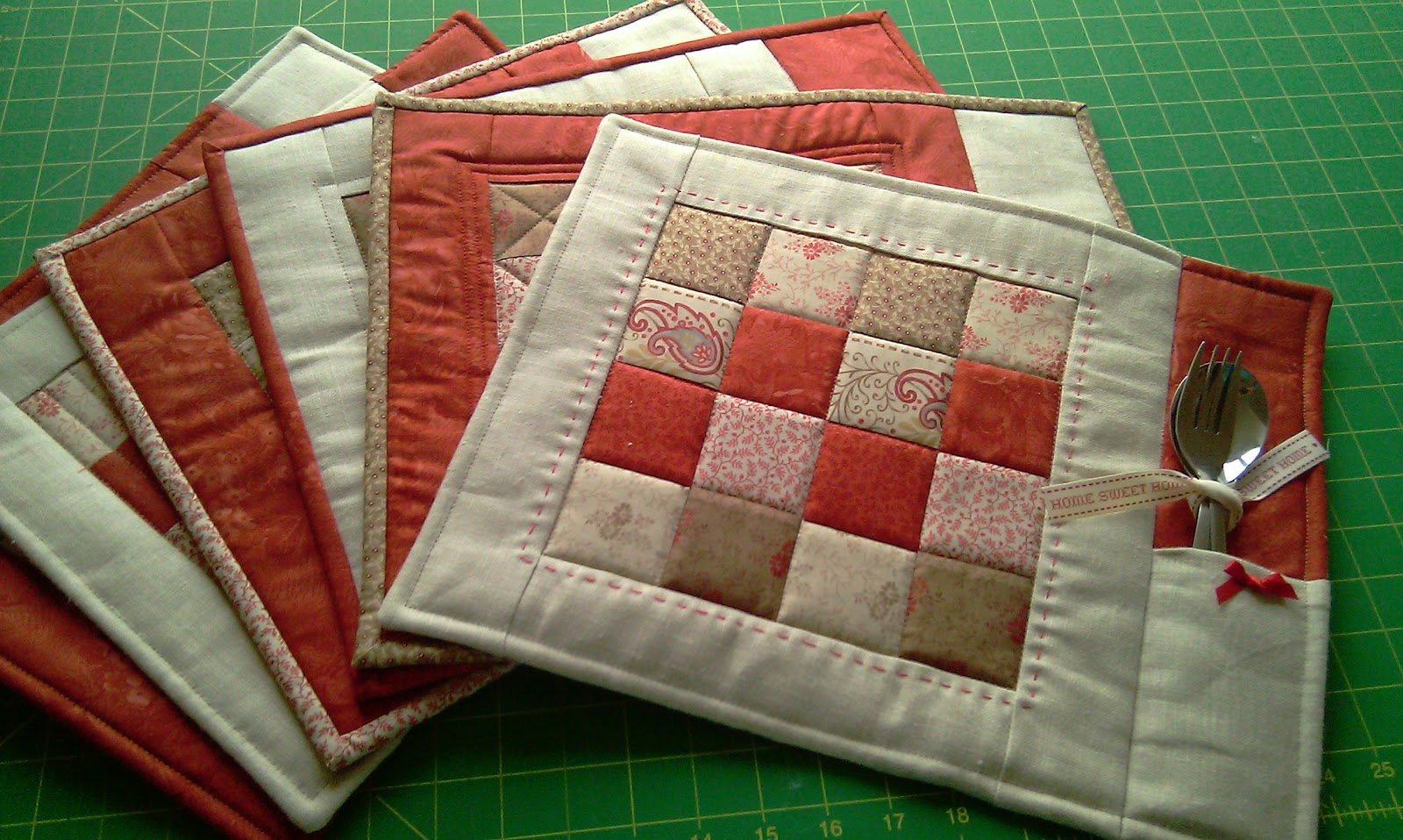 Simple Quilt Patterns For Placemats Cafca Info For