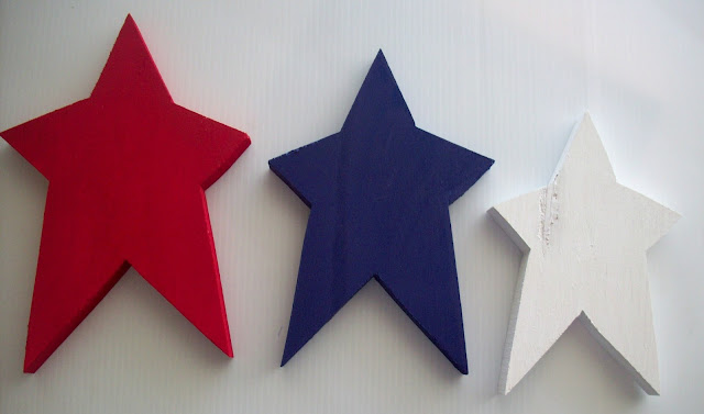 painted stars Red White and Blue Stars