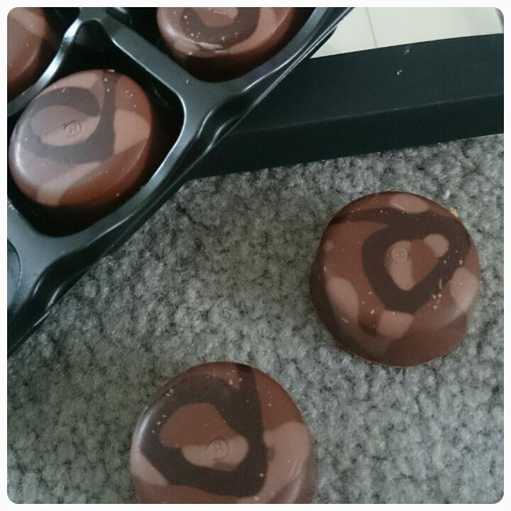 close up of hotel chocolat praline chocolates