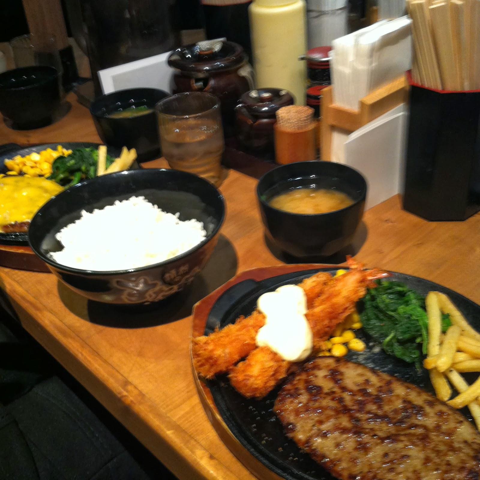 Hamburger Dinner in Shinjuku