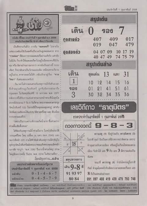 Calendar Lottery June : Formula thai lottery for  new calendar