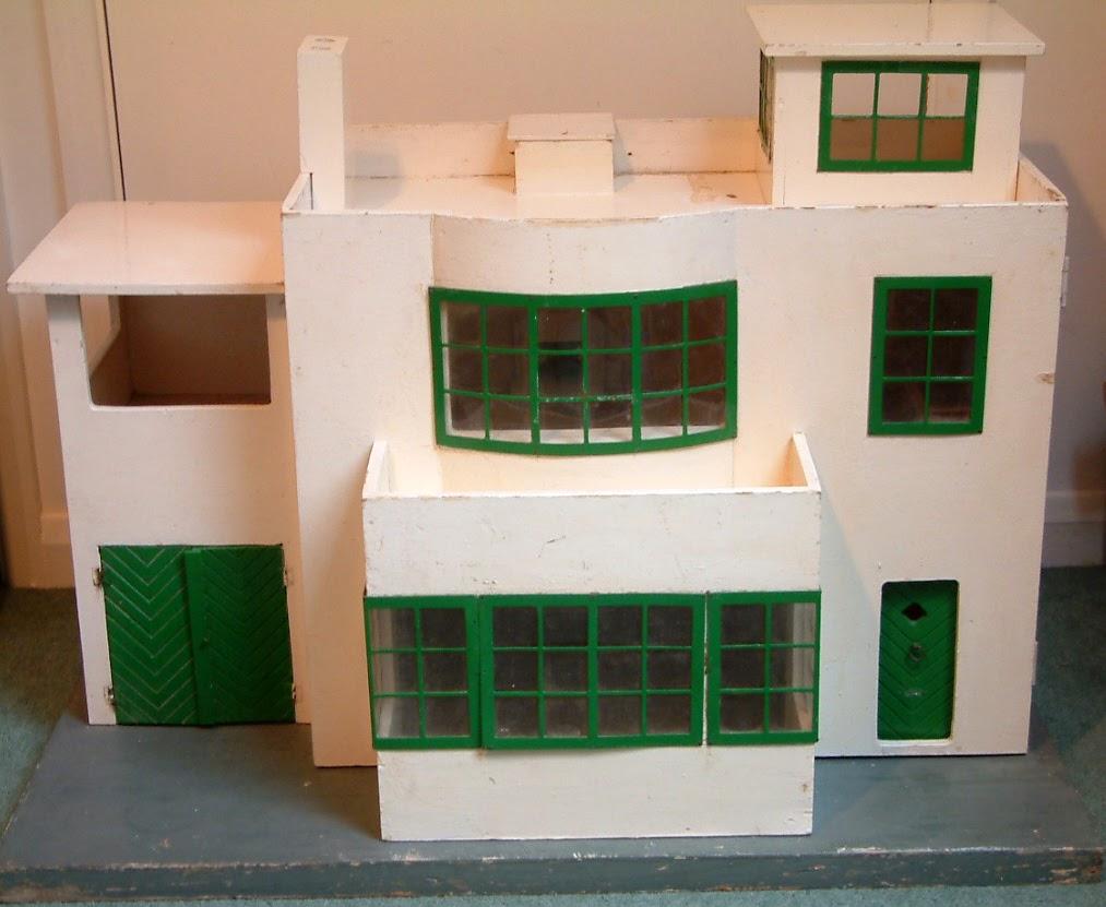 Kt miniatures journal c1930s tri ang no 52 art deco dolls house - Deco moderne flat ...