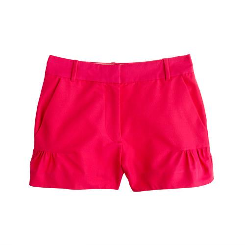 J Crew Faille Ruffle Shorts