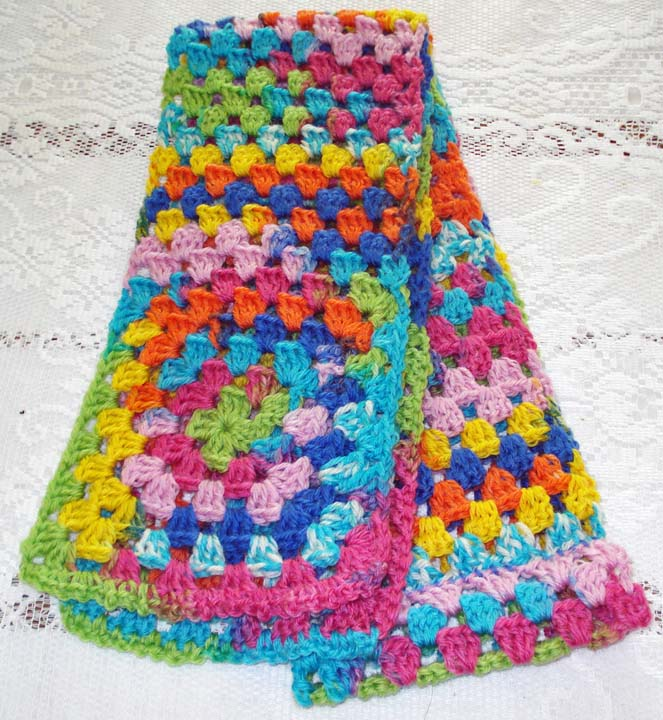 Granny Square Bag Pattern Free : BeadBag: Granny Square Scarf and Bag - free crochet pattern
