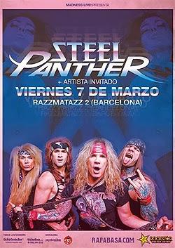 Conciertos de Steel Panther en Madrid y Barcelona en marzo 2014