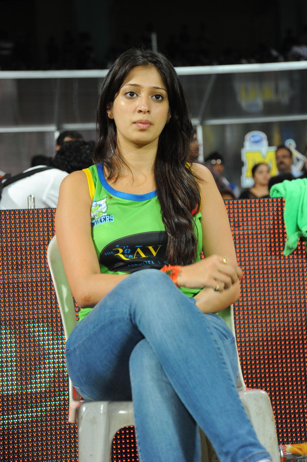 Actress Lakshmi Rai New Hot Photos At CCL 2 Matches | Hot Gallery