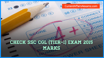 SSC CGL 2015 Tier-1 Marks