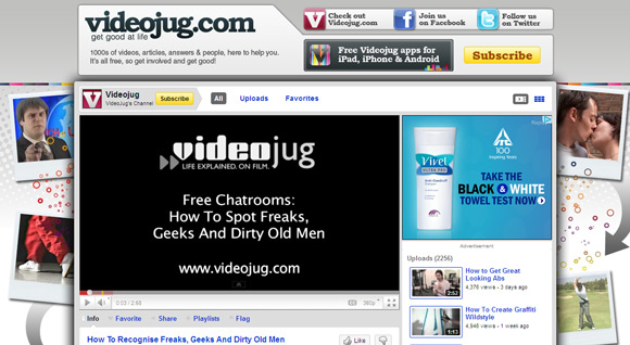 VideoJug Top 10 Best How To YouTube Video Channels