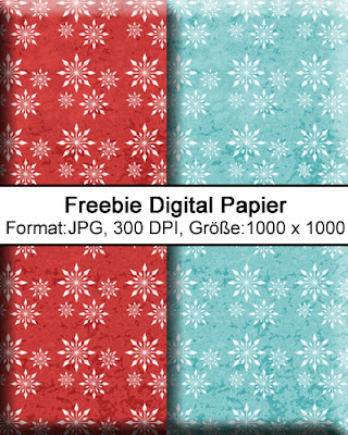Freebie Vorlage Pillow-Box -X-Mas- mit Tag und digital Papier