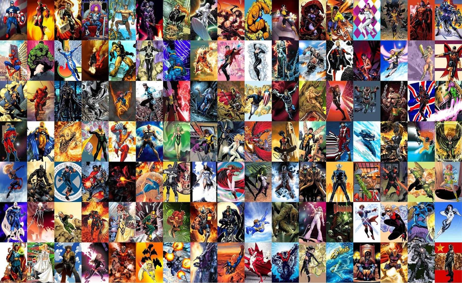 Marvel character list ultimate marvel mania - Heros avengers ...