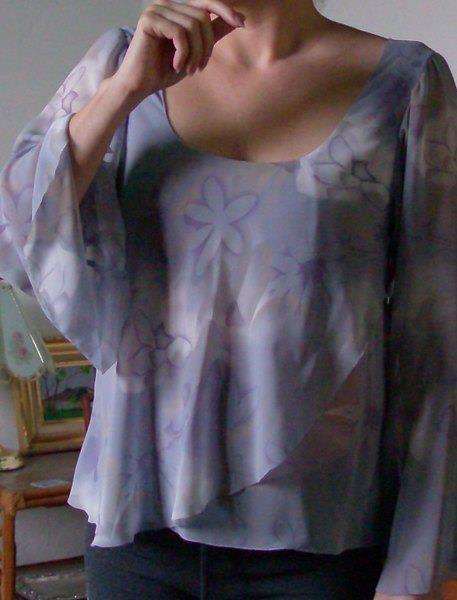 corte y confección terminaciones en telas sedosas shifon