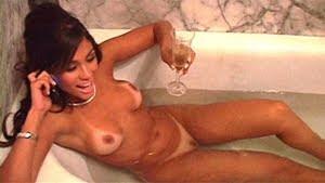 Maria Melilo em making of para Playboy