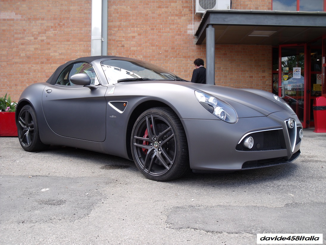 davide458italia alfa romeo 8c spider spotted photos. Black Bedroom Furniture Sets. Home Design Ideas