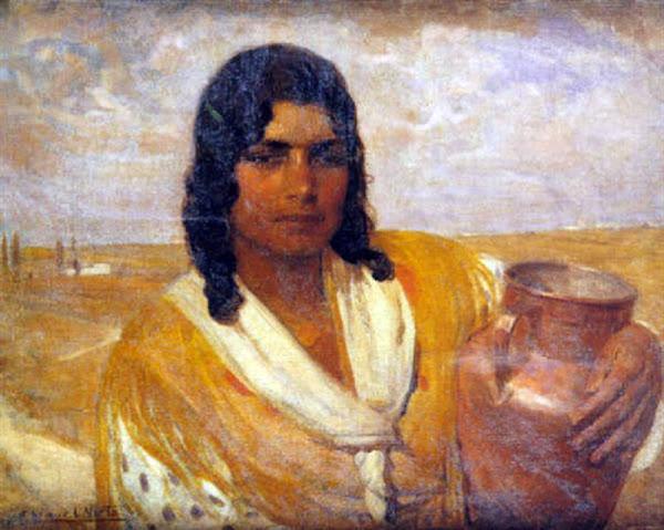 Gitana con cántaro, Anselmo Miguel Nieto, Pintura Española, Pintores Españoles, Pintor Español