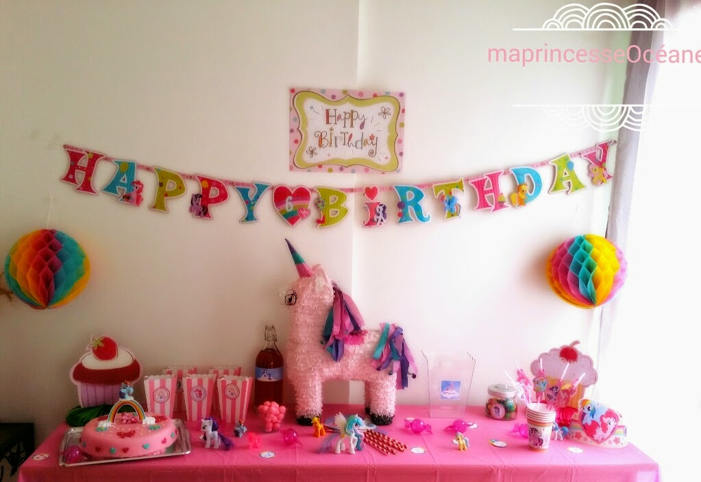Princesse oc ane sa f te d 39 anniversaire 6 ans my little for Decoration 25 ans