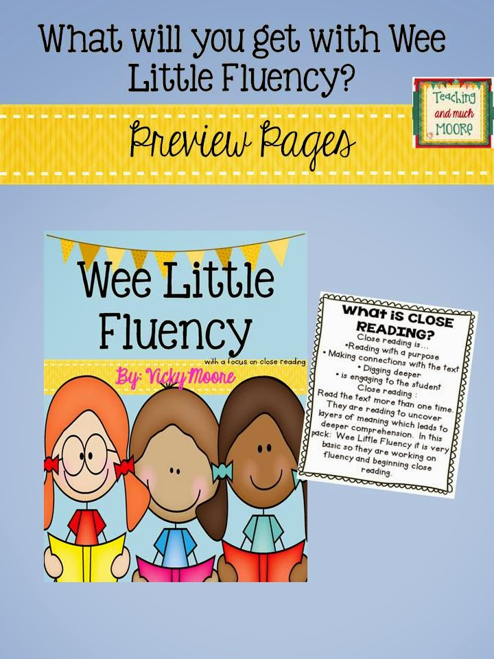 http://www.teacherspayteachers.com/Product/Wee-Little-Fluency-incorporating-Close-Reading--1323645
