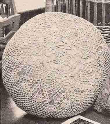 Cojín Redondo a Crochet