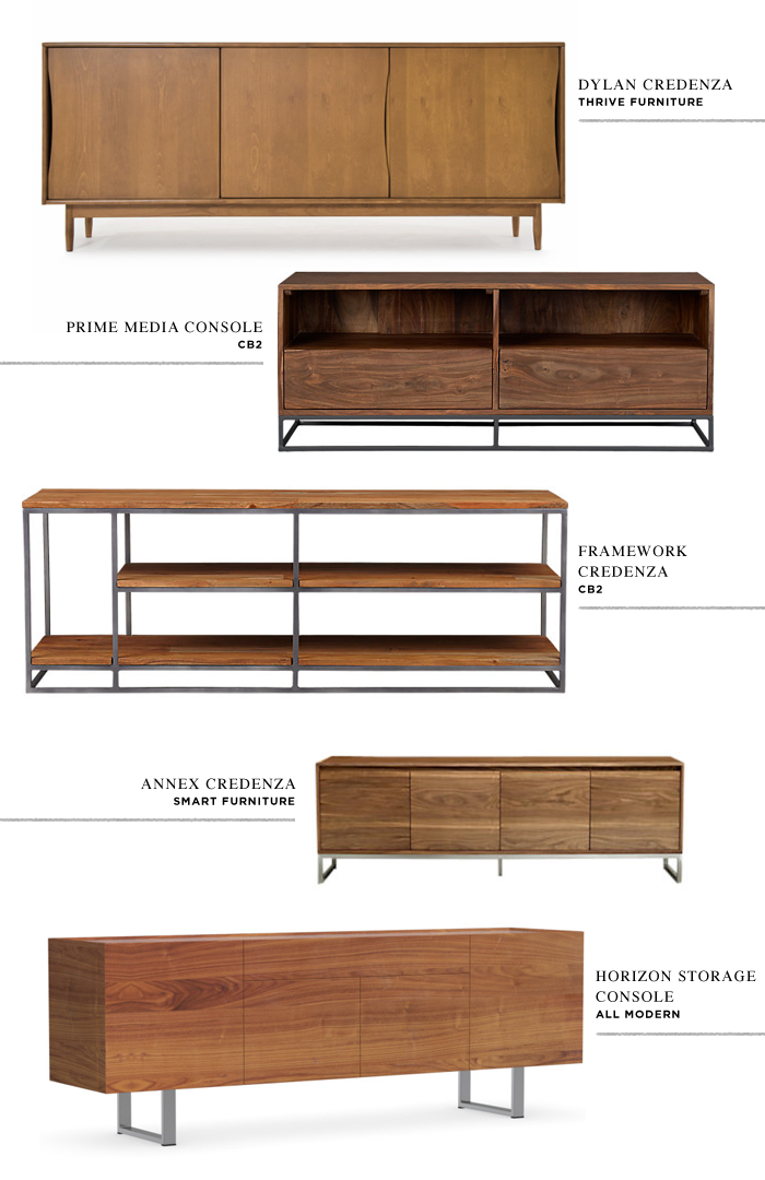 M O O R E A  S E A L: Decorating the Apartment // Living Room Credenza