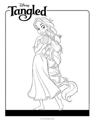 Rapunzel para colorear y pintar - Dibujo Views