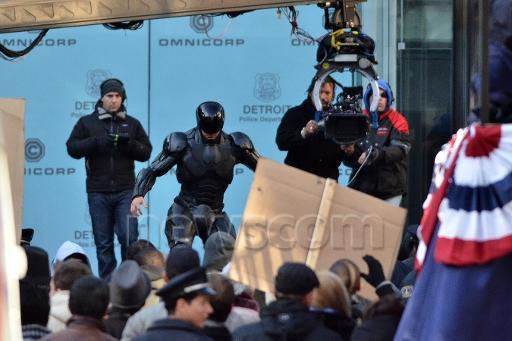 Fotografías del rodaje del remake de Robocop dirigido por Joe Padilha