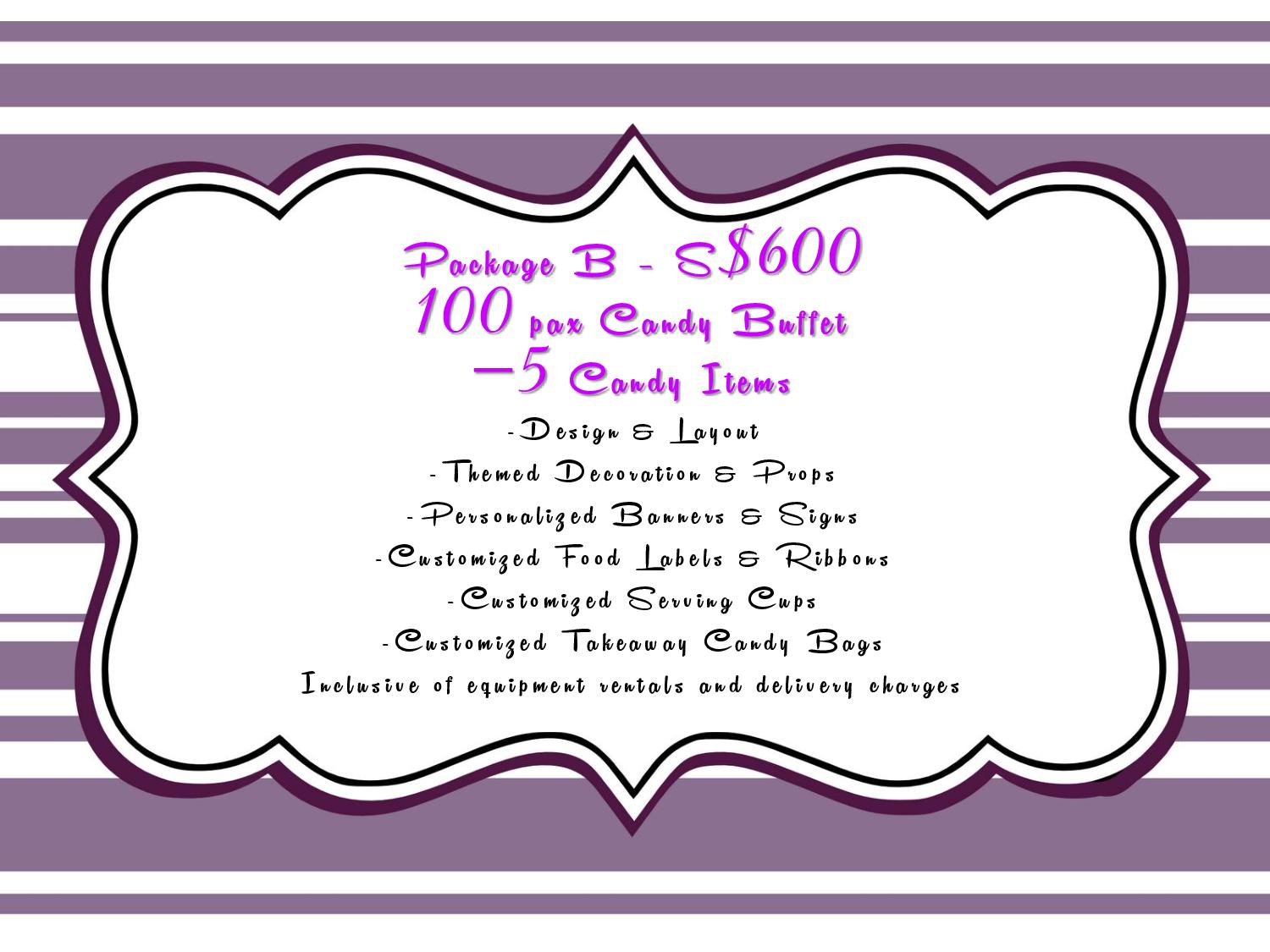 thecreativeindividual: Our Candy Buffet Price Packages for ...