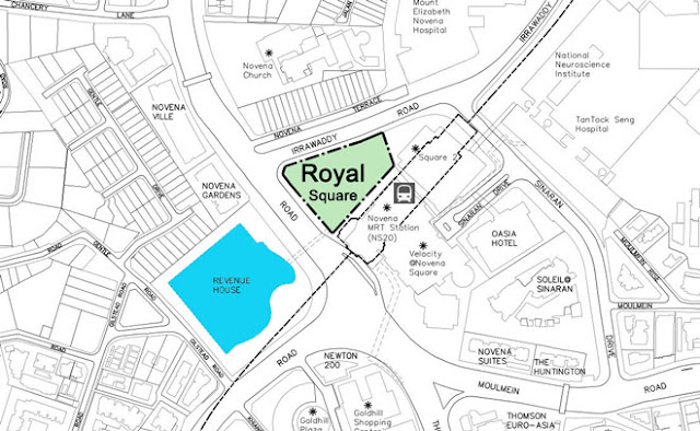 Royal Square Novena - Location Map