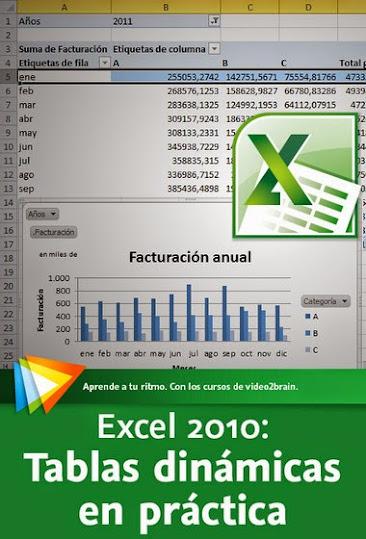 MEGAPOST 13 Cursos de Excel Video2brain MEGA, excel 2010, tablas dinamicas en practica