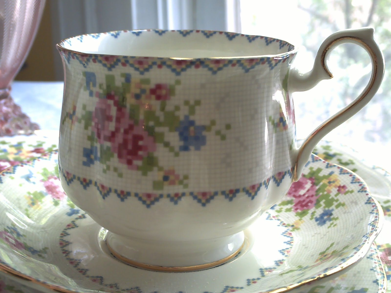 teacup tuesday 3 royal albert petit point china