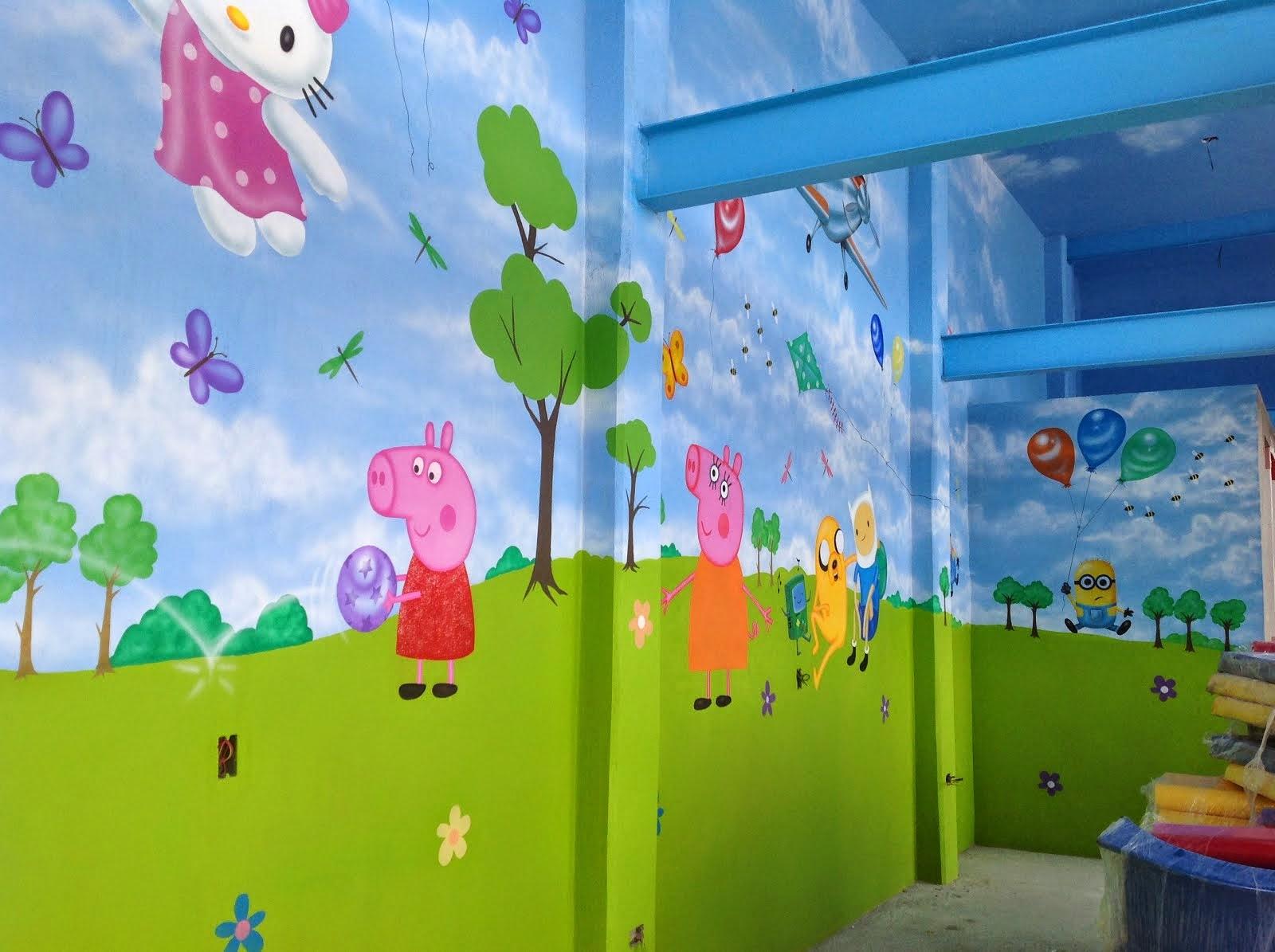 Murales infantiles y arte decorativo pintado a mano por un - Murales para salon ...