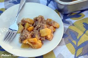 Melissa's Cuisine: Peach Crisp