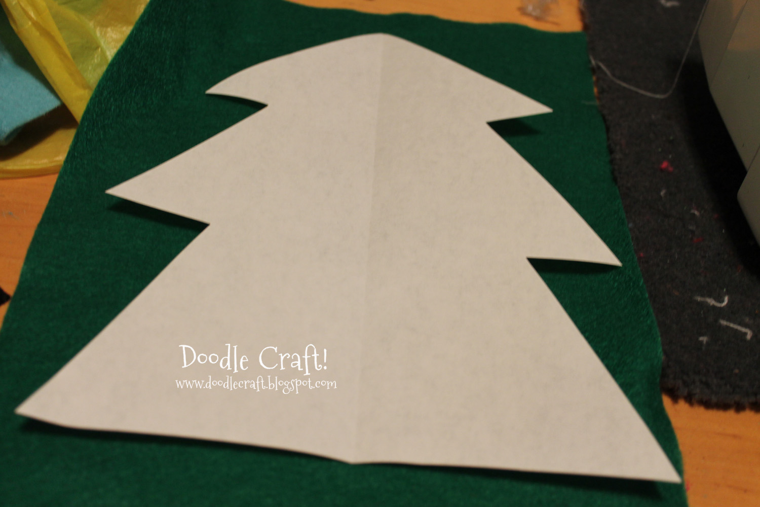 Green Christmas Tree Template I cut out a tree pattern and