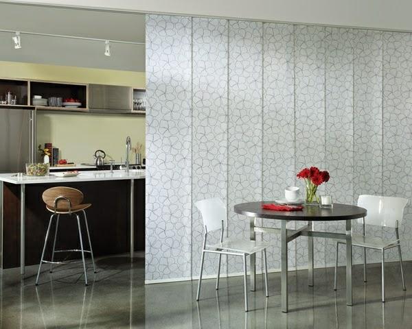 Ideas For Sliding Room Dividers : Room divider ideas: Sliding room divider with ornament glass