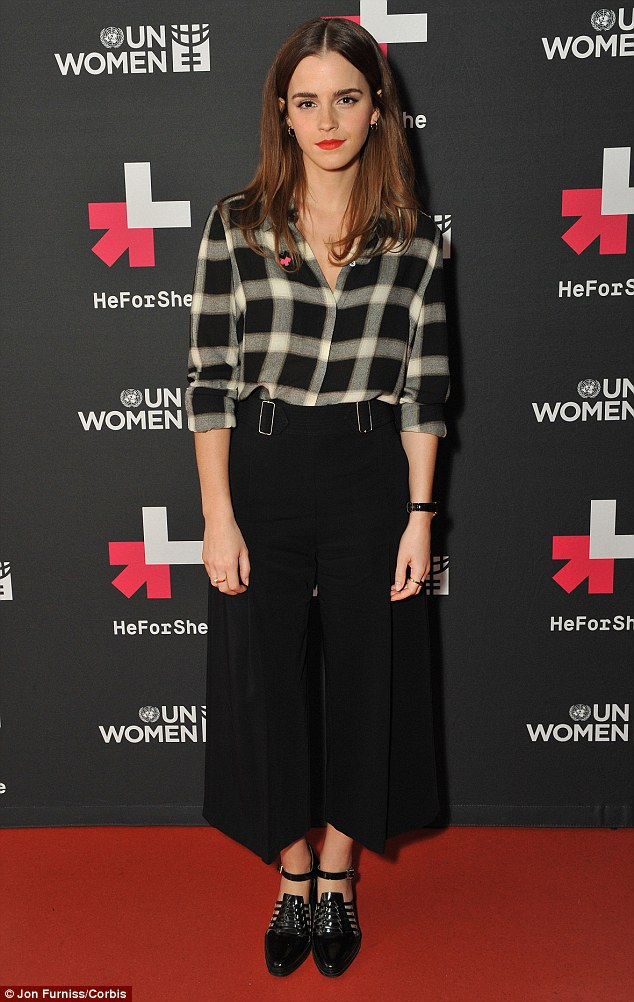 Emma Watson is chic at Facebook's Live Q/A Session on International Women's Day in London