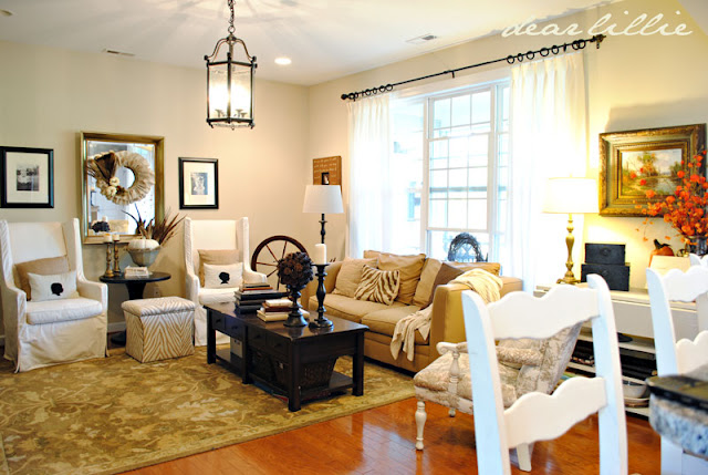Dear lillie fall decorating from last year for Child proof living room ideas