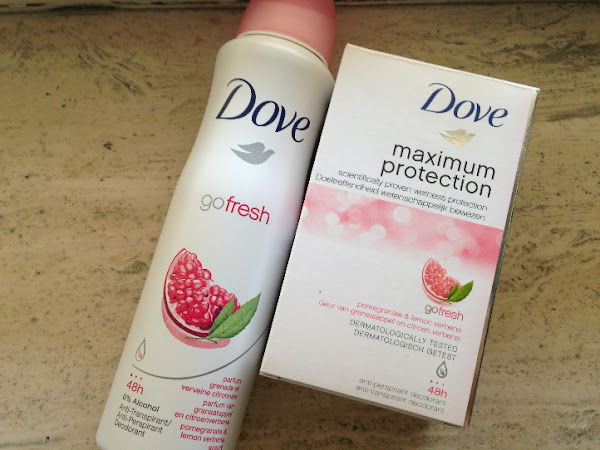 Dove Gofresh Pomegranate & Lemon Verbena deodorant.