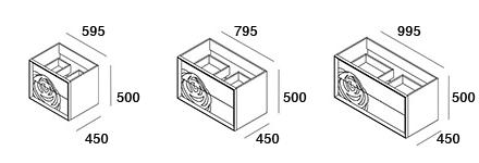 medidas mueble baño rosal