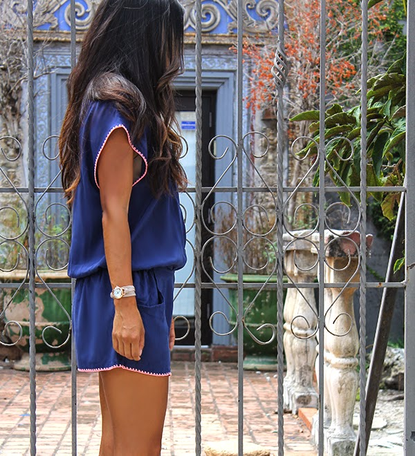 l*space, blue, shades of blue, blue trend, fall fashion trends, miami fashion blogger, style blogger, lynsee hee kyeong, blue romper, l*space romper, la mer collections watch, bodini paris shoes, asian fashion blogger, glamour, lucky magazine, seventeen, popsugar blogger